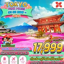 ทัวร์ญี่ปุ่น โตเกียว พิงค์มอส ออนเซ็น กินบุฟเฟ่ต์ขาปูยักษ์ ช้อปปิ้ง (TOKYO PINKMOSS ลาลาลอย) [APR-MAY] 4วัน 3คืน บิน AIR ASIA X