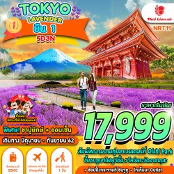ทัวร์ญี่ปุ่น โตเกียว ชมดอกลาเวนเดอร์ กินปูขายักษ์ ออนเซ็น ช้อปปิ้ง (TOKYO LAVENDER ยืนหนึ่ง) [JUN] 5วัน 3คืน บิน THAI LION AIR