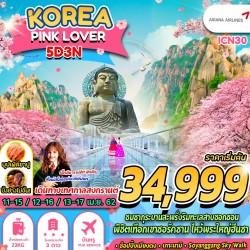 ทัวร์เกาหลี โซล ชมดอกซากุระ สวนสนุกล๊อตเต้เวิลด์ ช้อปปิ้ง (KOREA PINK LOVER) [APR] 5วัน 3คืน บิน ASIANA AIRLINES