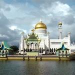 ข้อมุลเที่ยวบรูไน : มัสยิดสุลต่านโอมาร์อาลีไซฟุดดีน (The Sultan Omar Ali Saifuddien Mosque)