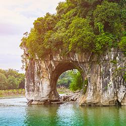 ข้อมูลเที่ยวจีน : เขางวงช้าง (elephant trunk hill) 象鼻山
