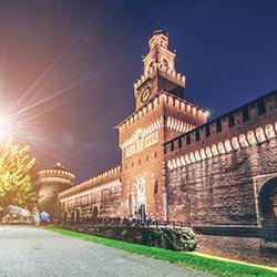 ข้อมูลเที่ยวอิตาลี : ปราสาทซฟอร์ซ่า (sforza castle)