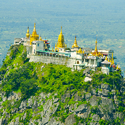 ข้อมูลเที่ยวพม่า : ภูเขาโปปา (Mount Popa) กับ มหาคีรีนัต แห่งพุกาม