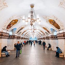 ข้อมูลเที่ยวรัสเซีย : สถานีรถไฟใต้ดินกรุงมอสโคว (METRO)