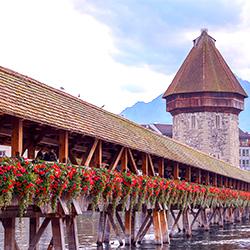 ข้อมูลเที่ยวสวิตเซอร์แลนด์ : สะพานไม้ คาเปลบรุค (Kapelbruck )