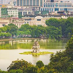 ข้อมูลเที่ยวเวียดนาม : ทะเลสาบฮหว่านเกี๊ยม  Hồ Hoàn Kiếm