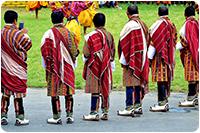 จัดกรุ๊ปทัวร์ภูฏาน : แต่งกายด้วยชุดประจำชาติ