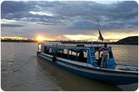 จัดกรุ๊ปทัวร์กัมพูชา : ล่องเรือ
