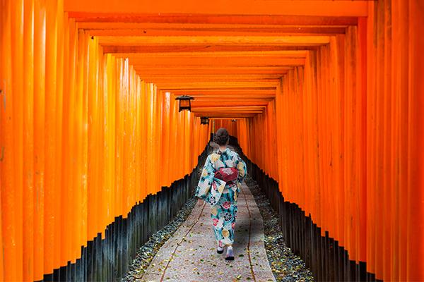 18 ภาพถ่ายจากประเทศญี่ปุ่นสวยๆ ที่คุณอาจไม่เคยเห็น,ศาลเทพเจ้าจิ้งจอก,เสาหมื่นต้น,ฟูจิชิ,อินาริ