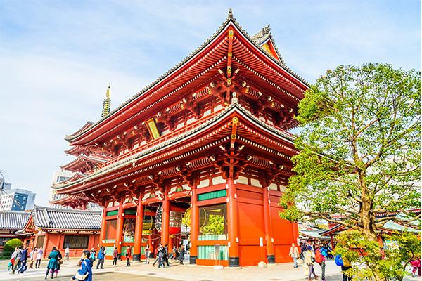 18 ภาพถ่ายจากประเทศญี่ปุ่นสวยๆ ที่คุณอาจไม่เคยเห็น,วัดอาซากุสะ,วัดโคมแดง,วัดเซนโซจิ